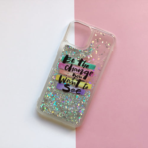 Funda Gel Glitter Want to See