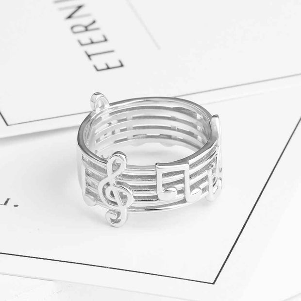 Musical Sterling Silver Ring