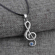 Treble Clef Musical Necklace