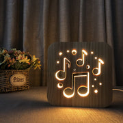 LEW Musical Wood Lamp