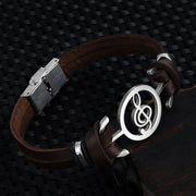 "Musical Leather Man Bracelet ""Noel"""