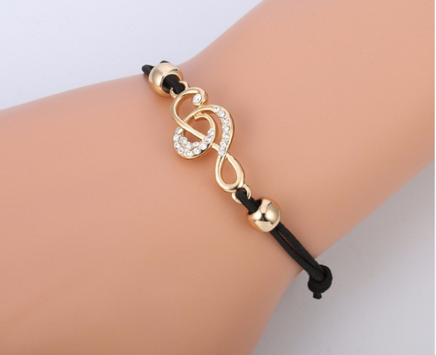 Woman Bracelet Treble Clef Brilliant
