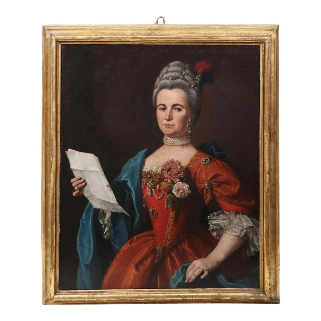 18th Century Swedish School Portrait of a Noble Women