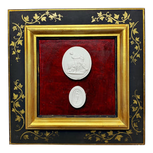 19th Century Antique Grand Tour Italian Framed Cameos