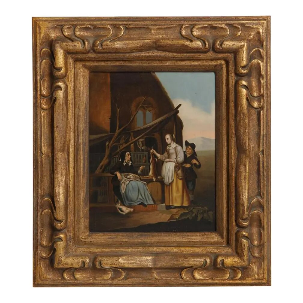 19th Century Continental School, Oil on Zinc Panel