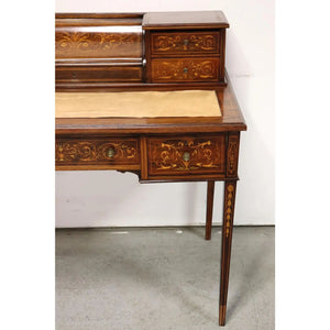19th Century French Marquetry Inlaid Desk