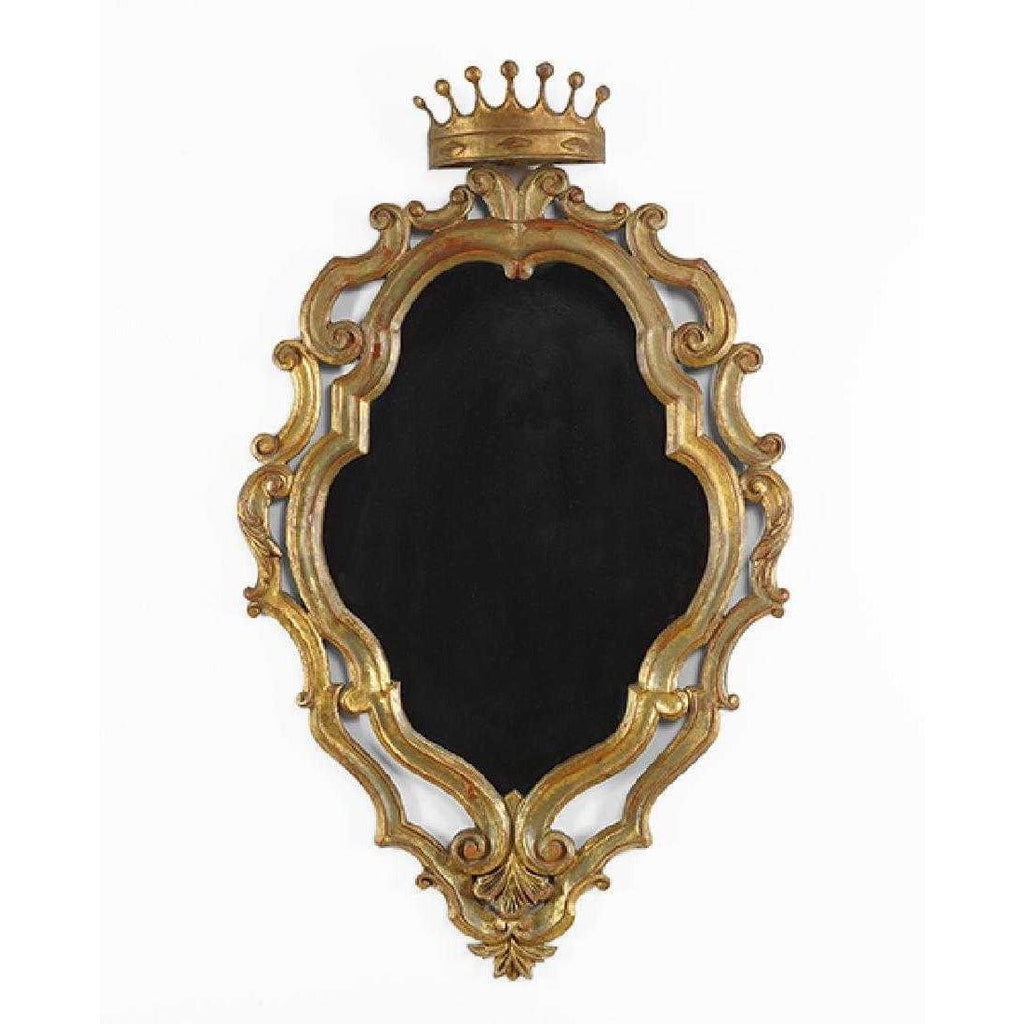 19th Century Italian Gilded Palladio Mirror With a Crown