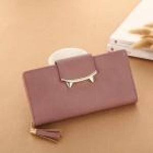 Women wallet card wallet holder Tassel Solid