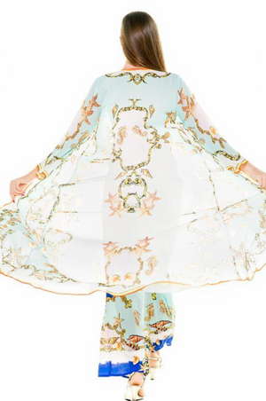 AQUAMARINE SEALIFE CAFTAN