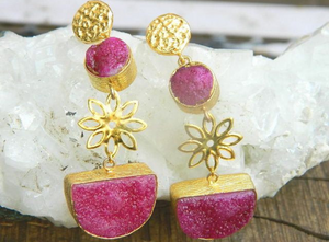 CHINOISERIE PINK EARRINGS #3