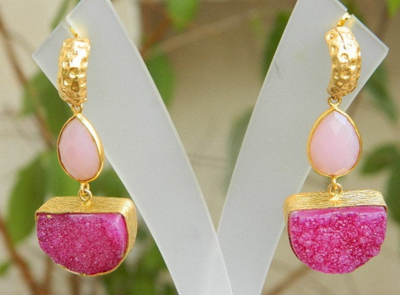 CHINOISERIE PINK EARRINGS #1