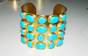 South Seas Cuff in Turquoise Howlite