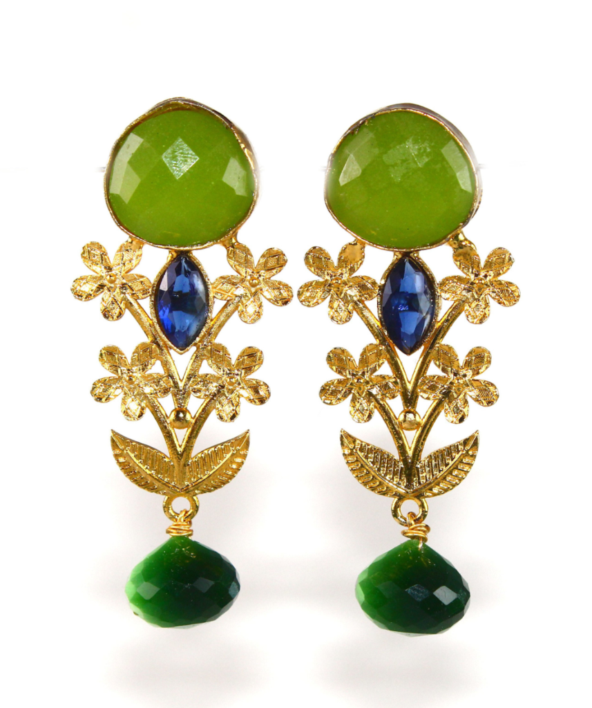 Capri Green Chalcedony Earrings