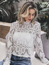 Elegant lace hollow out women