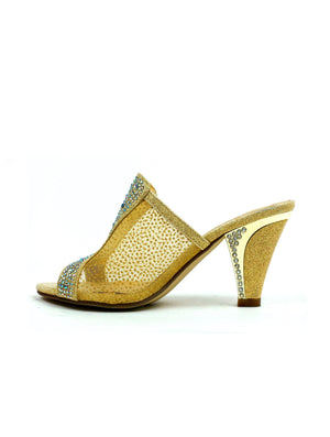 Slide In Net Heel Gold