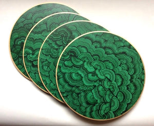 Hand Painted Faux Malachite Charger/Placemat