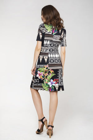 Print Wrapover Dress