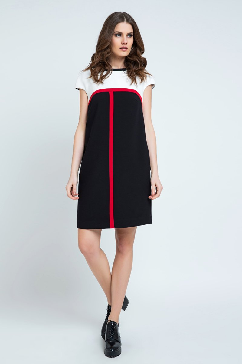 Stripe Detail Sack Dress
