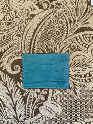Turquoise Luxury exotic leather credit card cases