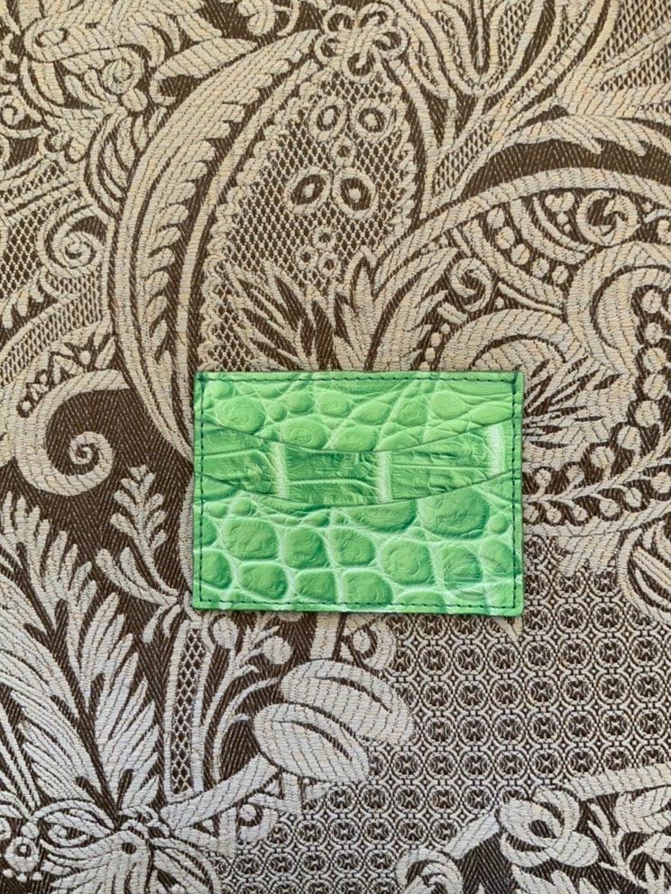 Green Luxury exotic leather credit card cases