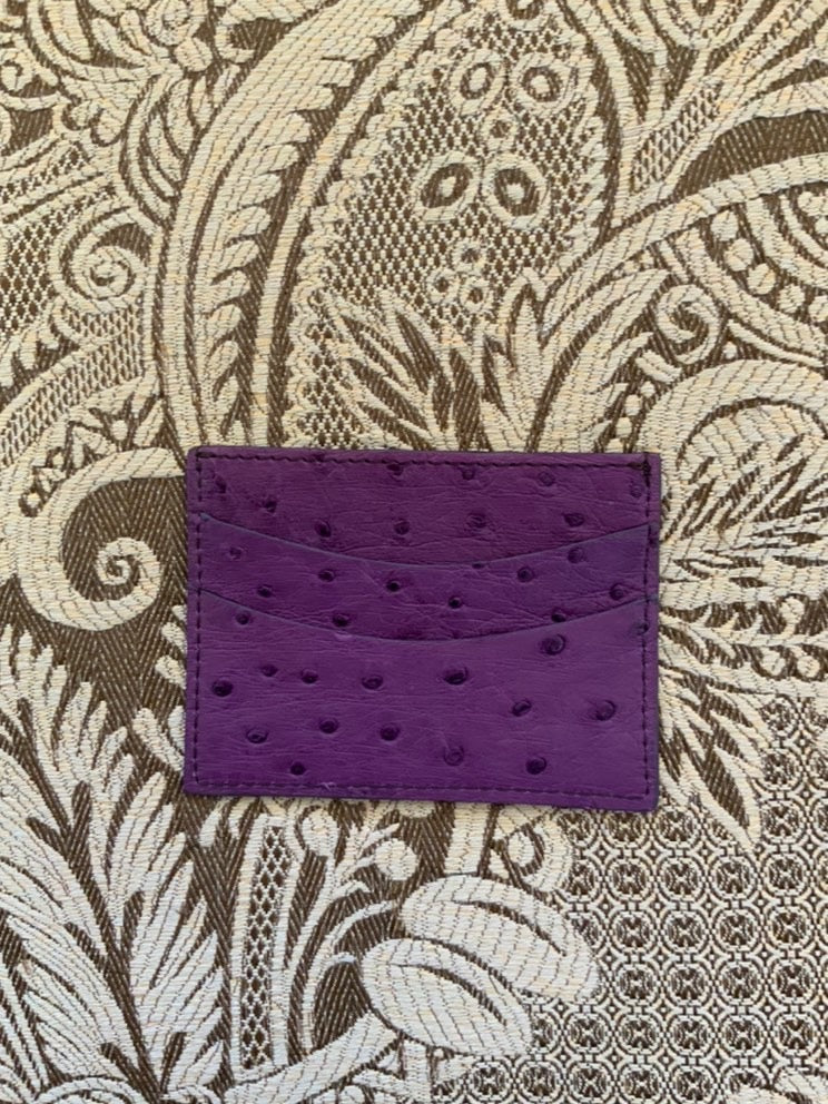 Purple Luxury exotic leather credit card cases