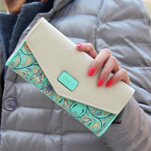 popular Lady Women Wallets pu Leather Clutch
