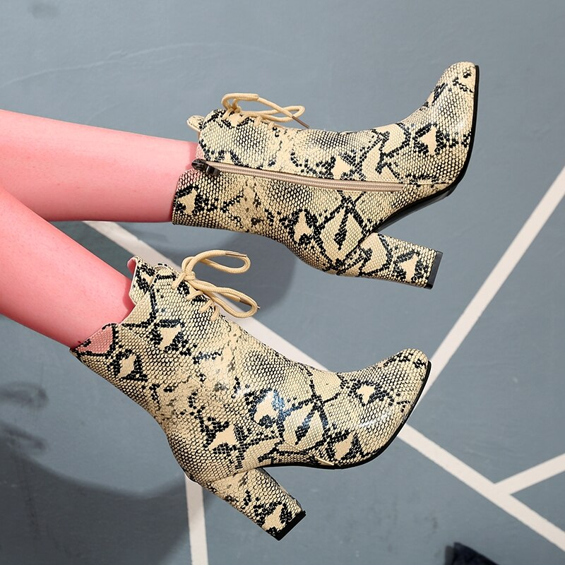 Women Ankle Boots Zip Pointed Toe Footwear