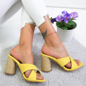 High-heeled Slippers Summer