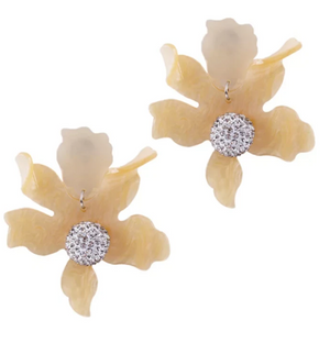 BOTANICAL EARRINGS IN DAFFODIL