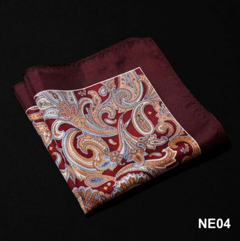 100% Natural Silk Satin Mens Hanky Wedding Party Pocket Square