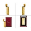 Authentic Cartier Gas Lighter Gold Oval Vintage with box lt1058