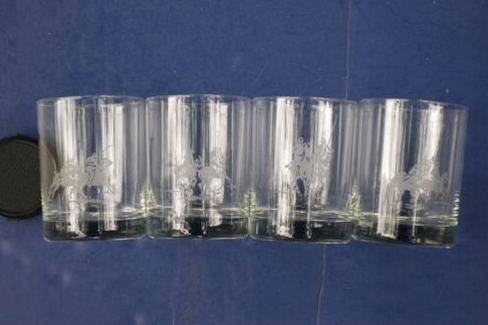 Ralph Lauren Set of 4 Polo Player Double Old Fashioned Glasses