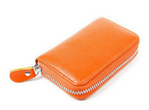 RFID Blocking Wallet Genuine Real Leather Credit Card Holder