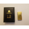 Vintage Dunhill Rollagas Lighter in Original Box and Papers, Gold Plated Checker