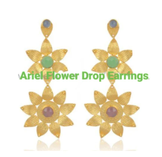 ARIEL FLOWER DROP EARRINGS