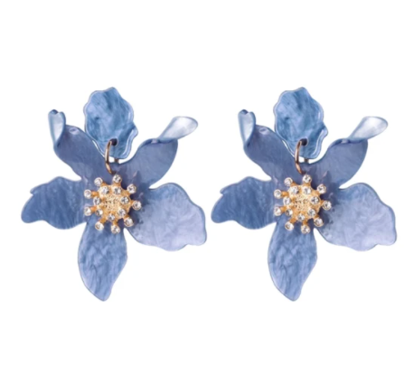 BOTANICAL EARRINGS CORNFLOWER