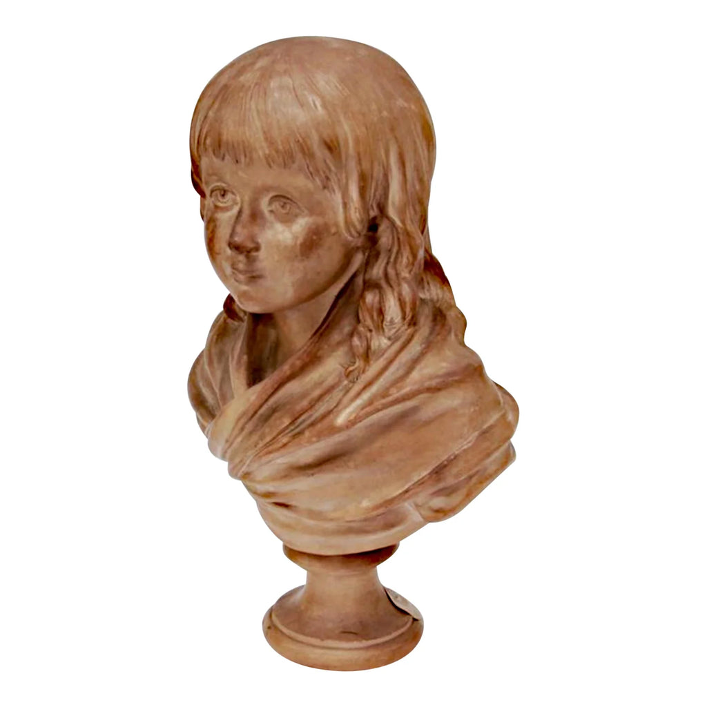 After Jean Antoine Houdon Terracotta Bust of Louis XVII