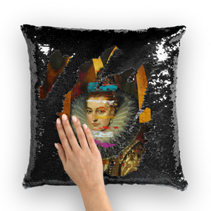 Au Couture Sequin Cushion Cover