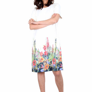 Way Beyoung Women's Short Sleeve Stretch Blossom