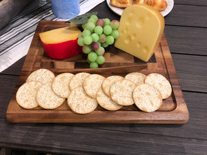 End Grain Cheese Board with Knife