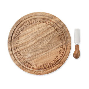 Rustic Farmhouse: Rounded Cheese Board & Knife Set