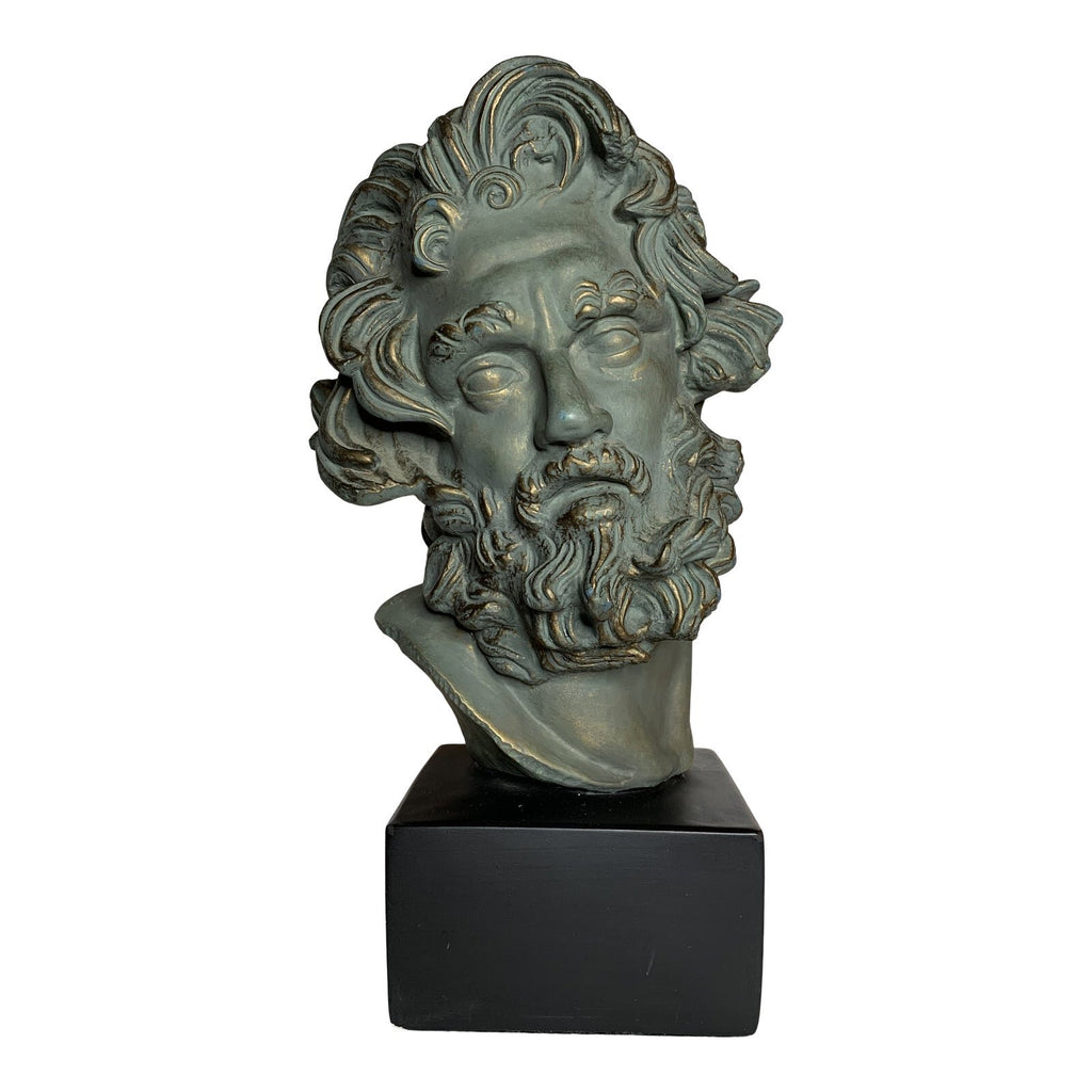 Grand Tour Style Italian Plaster Bust With Rusted Copper Finish