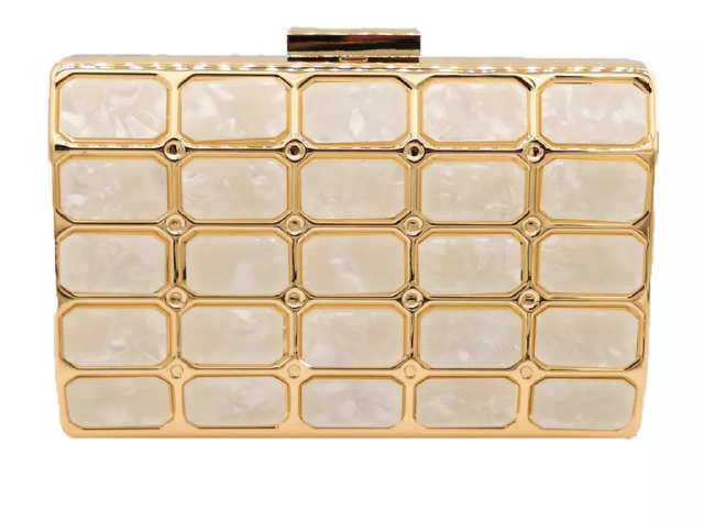 Gold Bellevue Clutch