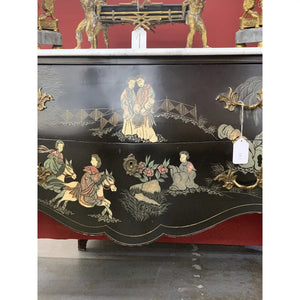 Louis XV Style Gilt Bronze Mounted Chinoiserie Japanese Decorated Commode