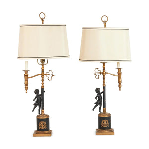 Neoclassical Table Lamps - A Pair