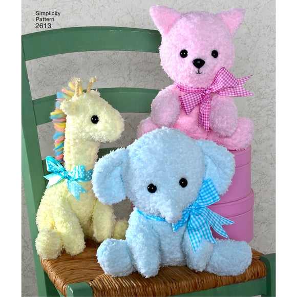 Simplicity 2613 - Crafts: Stuffed Animals