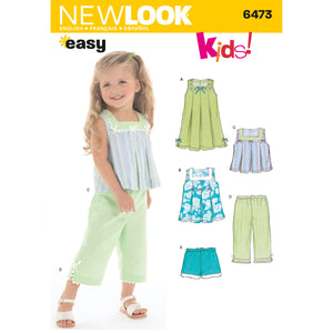 Symönster New Look 6473 - Klännning Top Byxa Shorts - Baby Flicka | Bild 1