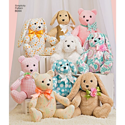 Symönster Simplicity 8044 - Two-Pattern Piece Stuffed Animals | Bild 3