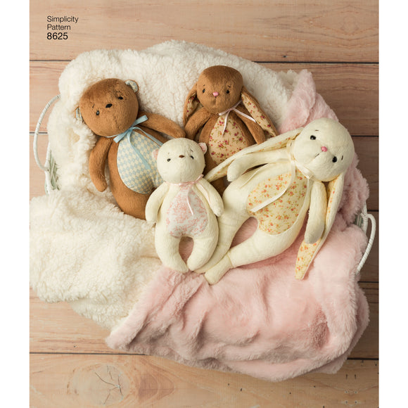 Symönster Simplicity 8625 - Stuffed Animals and Gift Bags | Bild 1