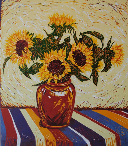 """Vase of Sunflowers"""